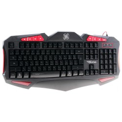 Игровая клавиатура USB Qumo Axe K03 мембранная, 118 клавиш, подсветка, кабель 1.5м, Black