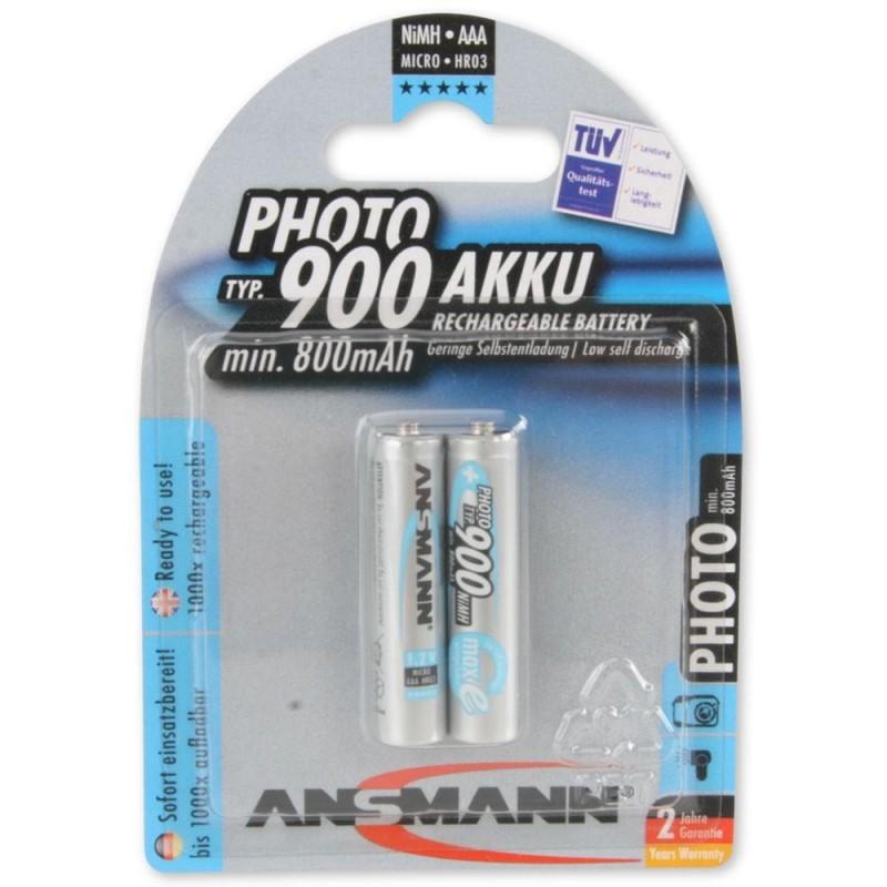 Аккумулятор Ni-MH AAA ANSMANN 900mAh 1.2в