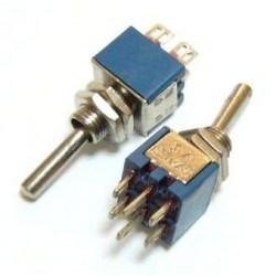 Переключатель тумблерный ON-ON, DPDT, 8.2*5.2мм М5, AC 250в, 1а, SMTS-202