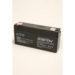 Аккумулятор свинцовый Robiton VRLA6-3.3/6в 3.3Ah 124x33x60мм