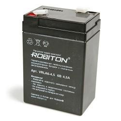 Аккумулятор свинцовый Robiton VRLA6-4.5/6в 4.5Ah 69x46x100мм