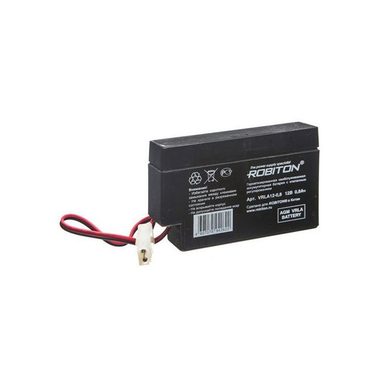 Аккумулятор свинцовый Robiton VRLA12-0.8 12в 0.8Ah