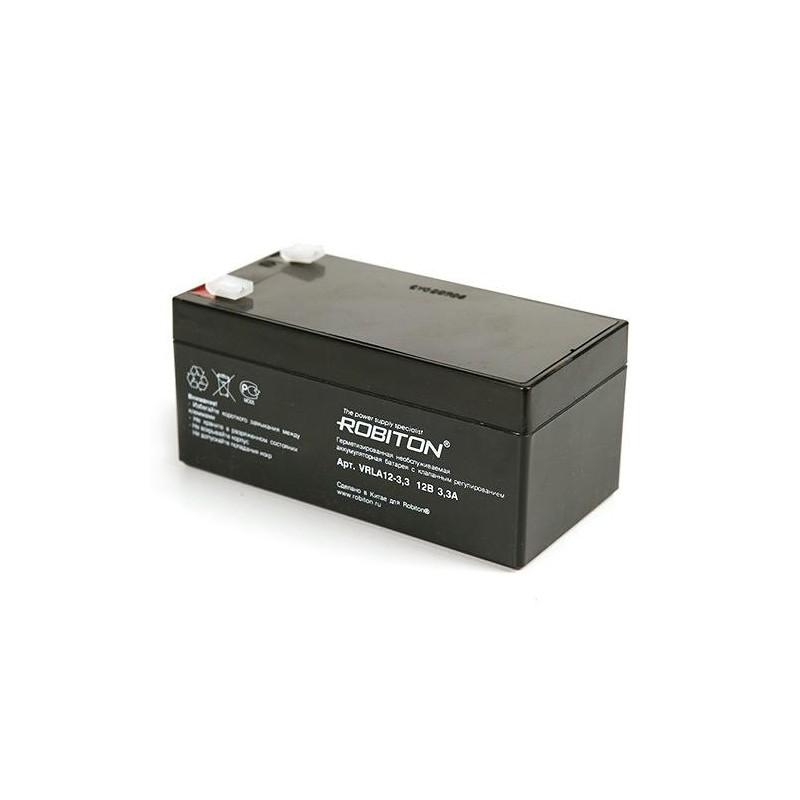 Аккумулятор свинцовый Robiton VRLA12-3.3 12в 3.3Аh 133x67x60мм