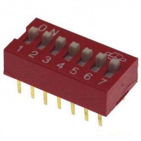 Переключатель DS-07/DIP, 2.54мм