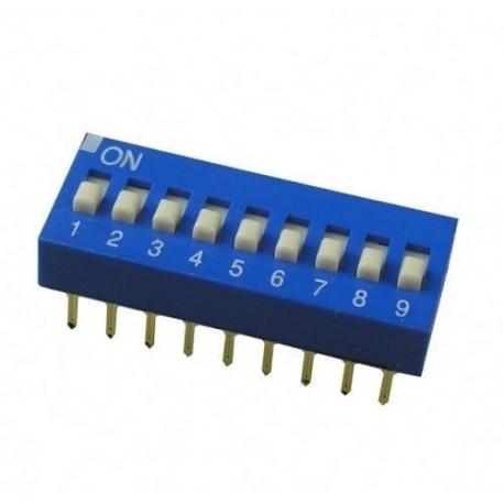Переключатель DS-09/DIP, 2.54мм