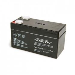 Аккумулятор свинцовый Robiton VRLA12-1.3/12в 1.3Ah