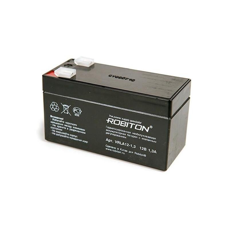 Аккумулятор свинцовый Robiton VRLA12-1.3 12в 1.3Ah