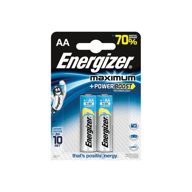 Элемент питания LR6 Energizer Maximum + Power Boost 1.5в