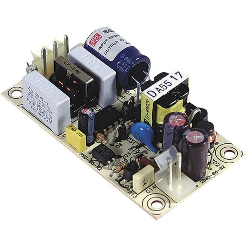 Блок питания Mean Well PS-05-12 12в, 0.5А, 75x40x20мм, бескорпусной