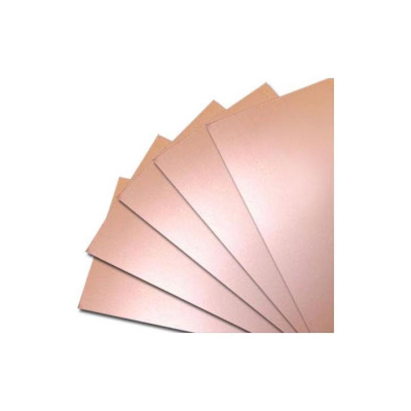 Текстолит двухсторонний 117х260х1.5мм FR4