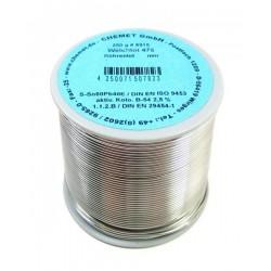 Припой CHEMET (112/TZ-40) 0.5мм флюс Kap-T серебро (250гр)/Sn96Ag4, 221°C