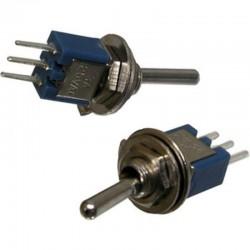 Переключатель тумблерный ON-ON, SPDT, 8.2*5.2мм М5, AC 250в, 1а, SMTS-102