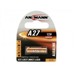 Батарейка 27A ANSMANN 1 шт./12В. щелочная