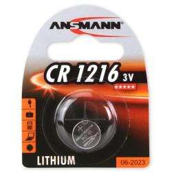 Батарейка CR1216 ANSMANN 1 шт./3В. литиевая