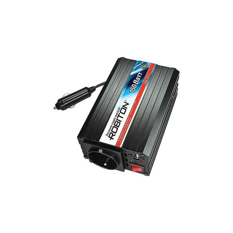 Преобразователь 12в-220в 150вт ROBITON R200 12в-220в, 150вт, USB
