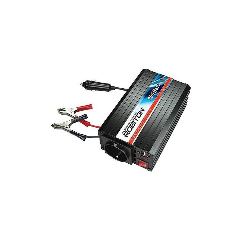 Преобразователь 12в-220в 300вт R300 12в-220в, 300вт, USB