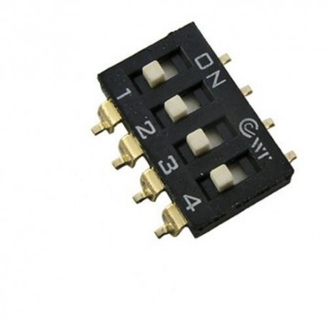 Переключатель SWD 4-4/DMD, 2.54мм