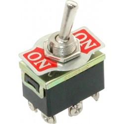 Переключатель тумблерный ON-ON, DPDT, 33.5*19.5мм М12, AC 250в, 10а, KN3(B)-202A