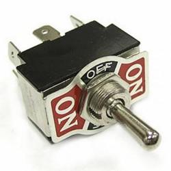 Переключатель тумблерный ON-OFF-ON, DPDT, 33.5*19.5мм М12, AC 250в, 6а, KN3(B)-203AP