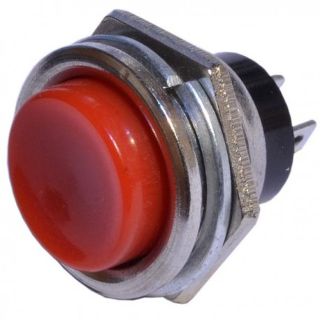 Кнопка PBS-26В красный/OFF-(ON), без фиксации