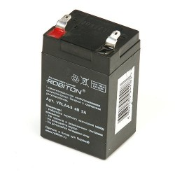 Аккумулятор свинцовый Robiton VRLA4-3/4в 3Ah,  48,2х38,4х81мм