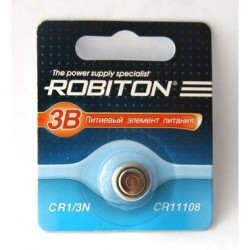 Батарейка CR1/3N ROBITON 1 шт./3В. литиевая