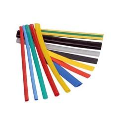Трубка термоусадочная 10.0мм /желто-зеленая/1:2, 125°С, 600в