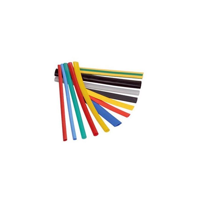 Трубка термоусадочная 10.0мм /желто-зеленая 1:2, 125°С, 600в