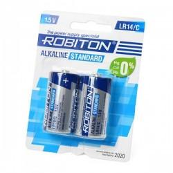 Батарейка C(LR14) ROBITON Standart 1 шт./1,5В. щелочная