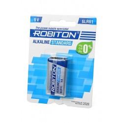Батарейка 6LR61(крона) ROBITON Standart 1 шт./9В. щелочная