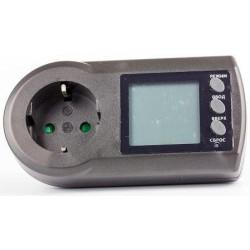 Ваттметр Robiton PM-2/220в, 16А, 3600вт, 0.0..9999.99 кВт*ч