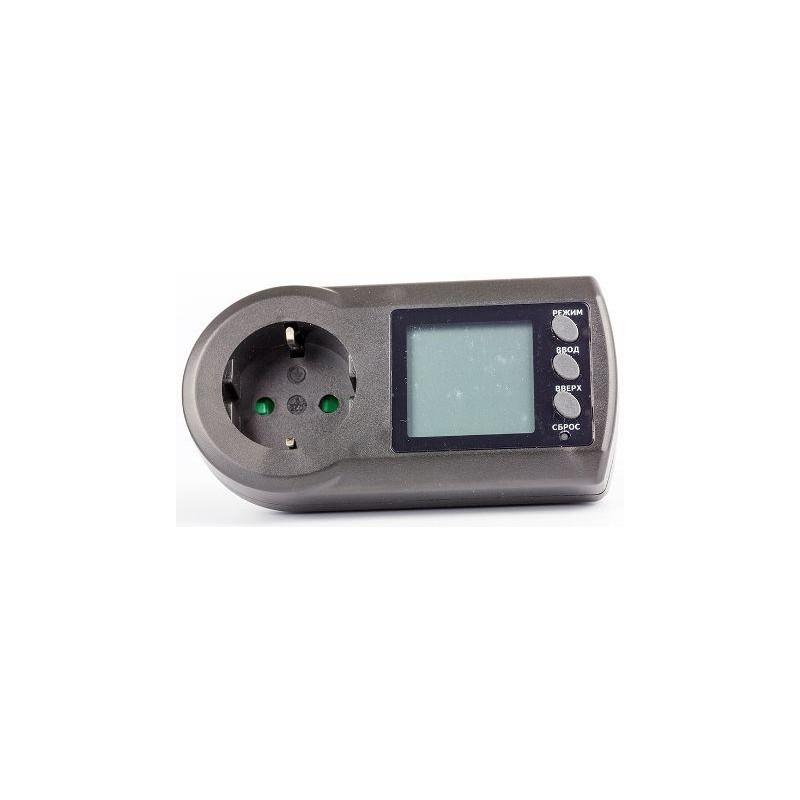 Ваттметр Robiton PM-2 220в, 16А, 3600вт, 0.0..9999.99 кВт*ч