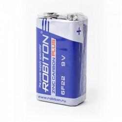 Батарейка 6F22(крона) ROBITON PLUS 1 шт./9В. солевая