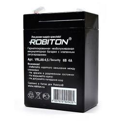 Аккумулятор свинцовый Robiton VRLA6-4.5-S/6в 3.5Ah 69x46x100мм