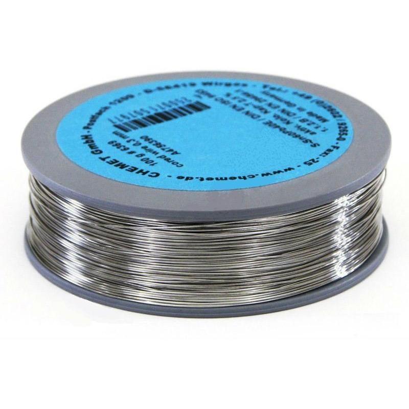 Припой CHEMET (112/TZ-40) 0,5мм флюс A-17 серебро (100гр) Sn96Ag4, 221°C