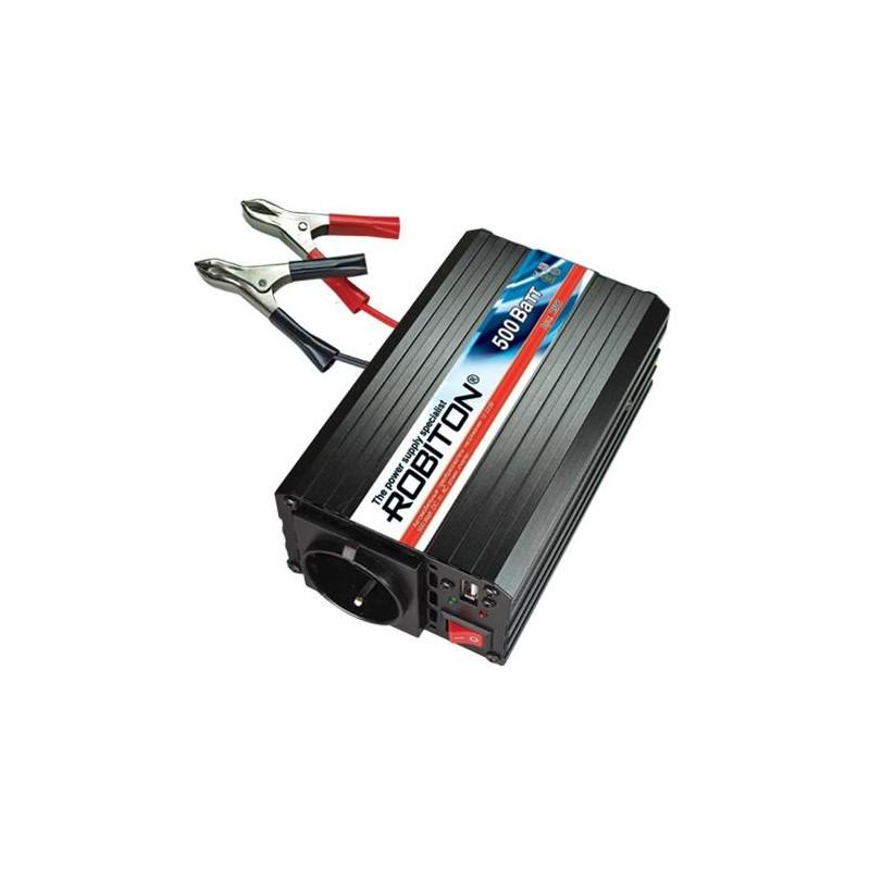 Преобразователь 24в-220в 500вт ROBITON R500/24V USB выход