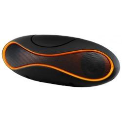 Портативная акустика Ginzzu GM-997B 6Вт, Bluetooth, FM, TF/USB, питание от батарей/USB, Black