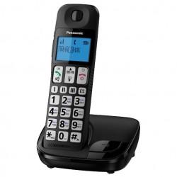 Радиотелефон Panasonic KX-TGE110 RUB,черный 1трубка/50м/300м/АОН/книга 50номеров/спикерфон/-/-/