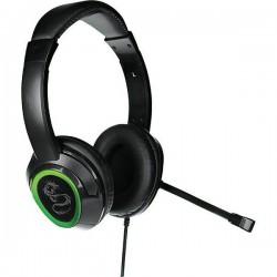 Игровая гарнитура Qumo Flex GHS 0003 накладные, 32Ом, 100дБ, кабель 2м, Black/Green