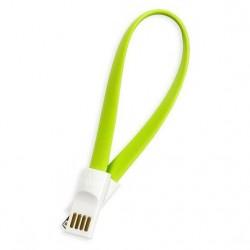 Кабель Lightning (m) - USB(m) Smartbuy iK-502m, 0.2м, магнитный, зеленый
