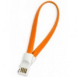 Кабель Lightning (m) - USB(m) Smartbuy iK-502m, 0.2м, магнитный, оранжевый