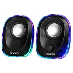 Актив.колонки 2.0 Sven 330 5Вт, питание от USB, пластик, Black