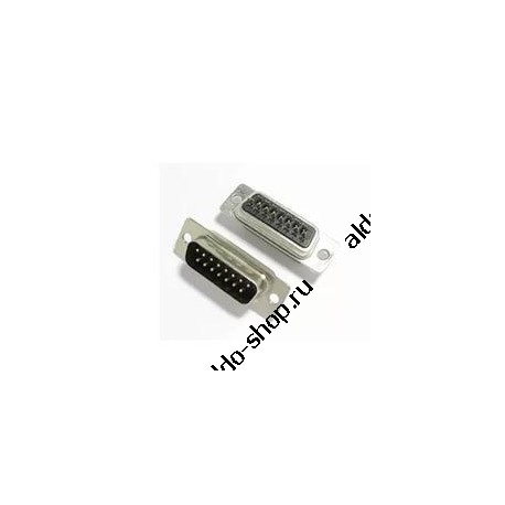 Разъем DB-15M/вилка кабельная