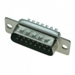 Разъем DHB-15M/вилка кабельная, 3 ряда