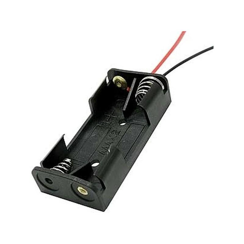 держатель батарей BH-421-1A AAA, 2х1, 52х13х25, гибкие выводы
