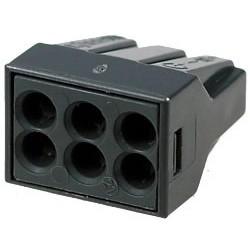 Клеммник WAGO 773-306/6х2.5мм, 20А, 300в, паста, Cu-Al