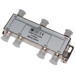 Делитель сигнала на 6 TV REXANT /5-1000Мгц/ + 7 F гайки Silver