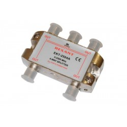 Делитель сигнала на 4 TV REXANT ETK-2504A /5-2500Мгц//проход питания