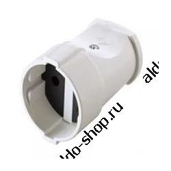 Розетка электрическая MAKEL 10004/кабельная, б/з, белая
