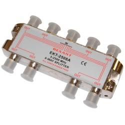 Делитель сигнала на 8 TV REXANT ETK-2508A /5-2500Мгц//проход питания